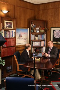 "CEO Chris Faulkner, Breitling Energy on a Satellite Tour Tuesday  discussing the status of the Iranian nuclear sanction negotiations, the direction of gasoline prices ahead of the spring and summer driving seasons and commenting on his documentary film, ""Breaking Free"", which is now available for purchase on Amazon.com and from the iTunes store."